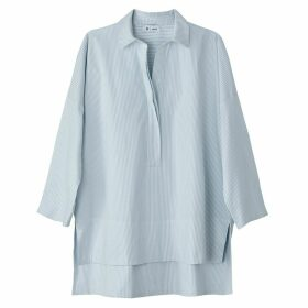 Striped Cotton Drop Back Shirt