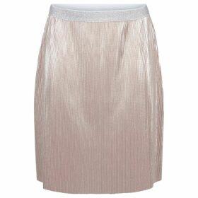Metallic Style Pleated Skirt