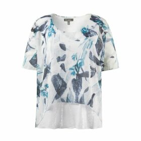 Floral Print Blouse with Sequin Detail