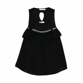 Camisole Top with Frills on the Front and Cutout Back