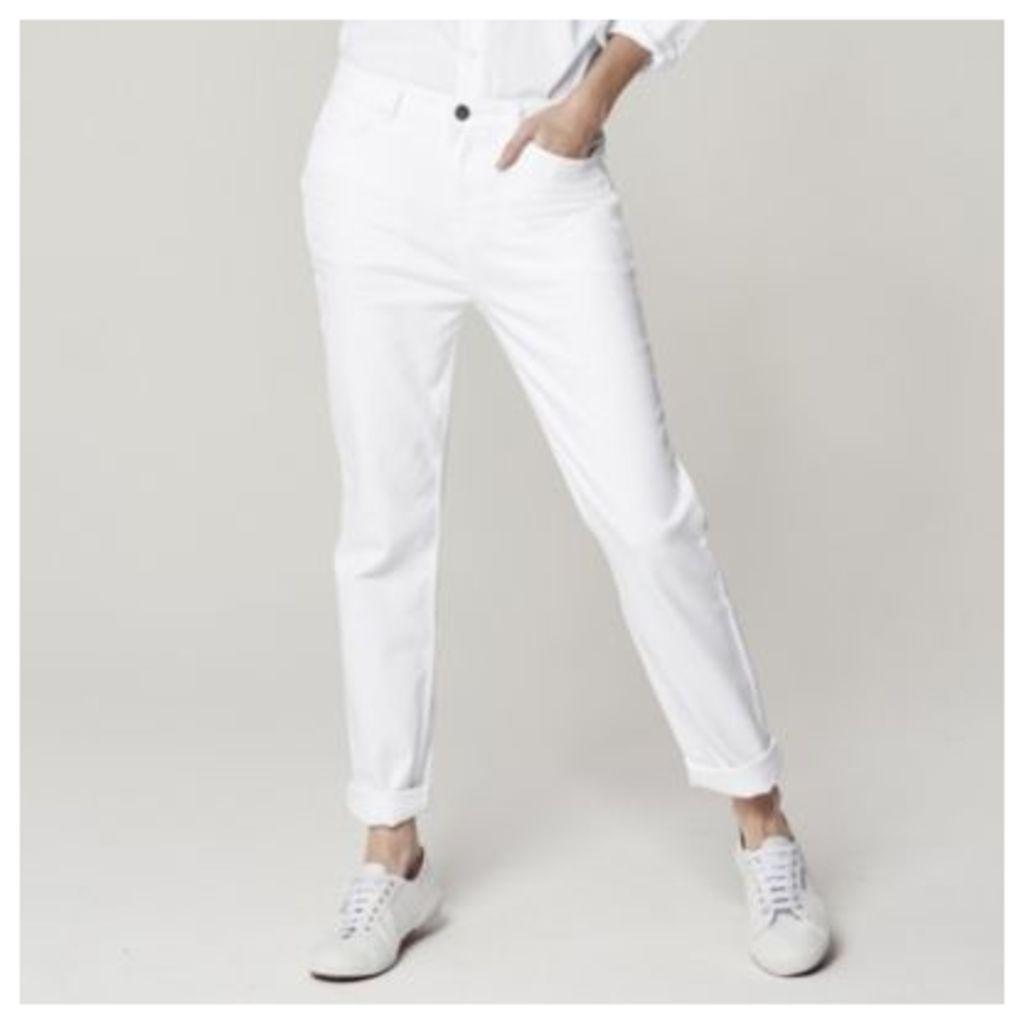 Brompton Boyfriend Jeans - White