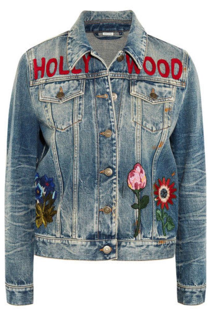 Gucci - Embroidered Denim Jacket - Light denim