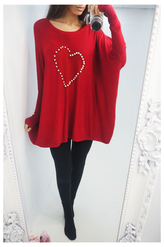Ainsley pearl heart oversized jumper