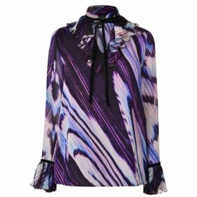 Just Cavalli Frill Bow Blouse