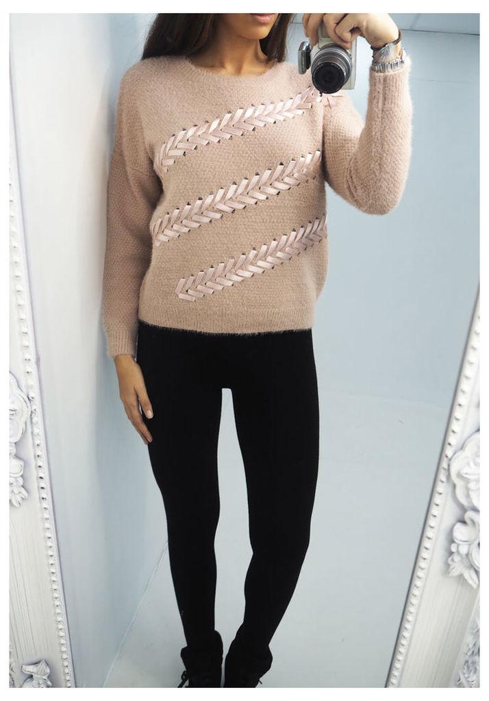 Javana Ribbon soft knitted jumper