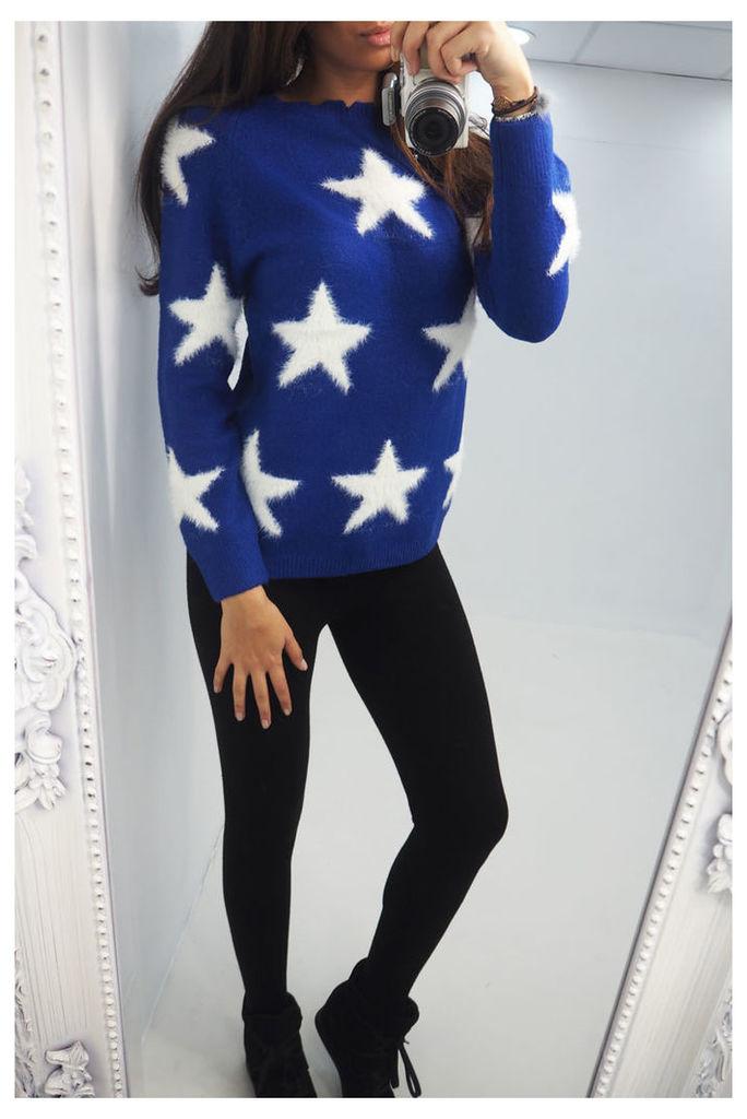 Dayna star soft knitted jumper