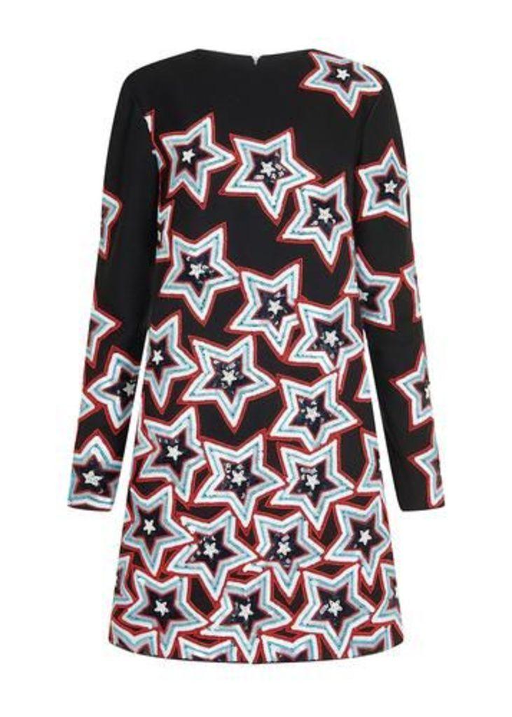 Sequin Star Shift Dress
