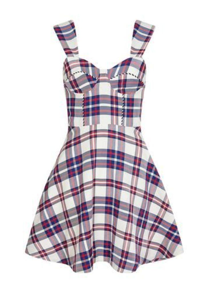 Tartan Fit and Flare Dress