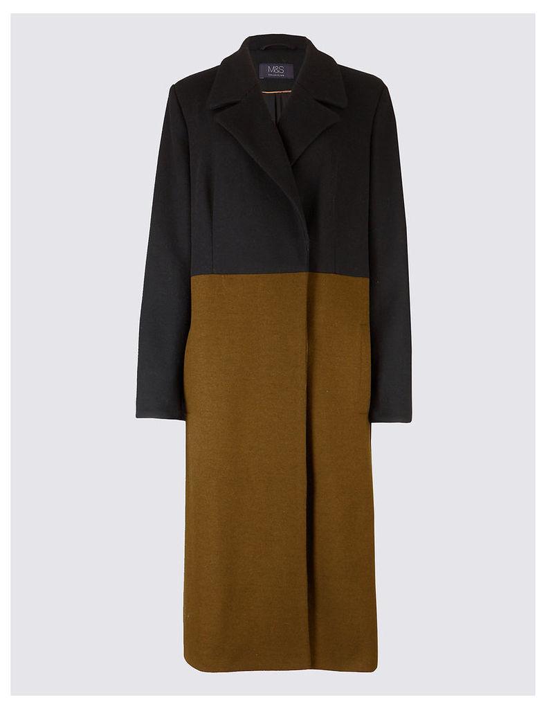 M&S Collection Colour Block Coat