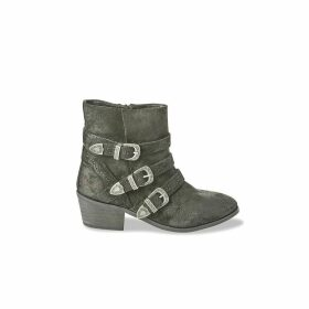 Versus Leather Ankle Boots