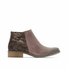 Lower Leather Ankle Boots