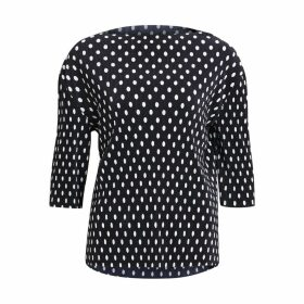 Ribbed Polka Dot Blouse