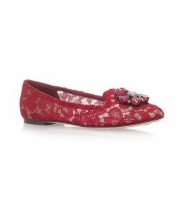 Lace Vally Embellished Flats