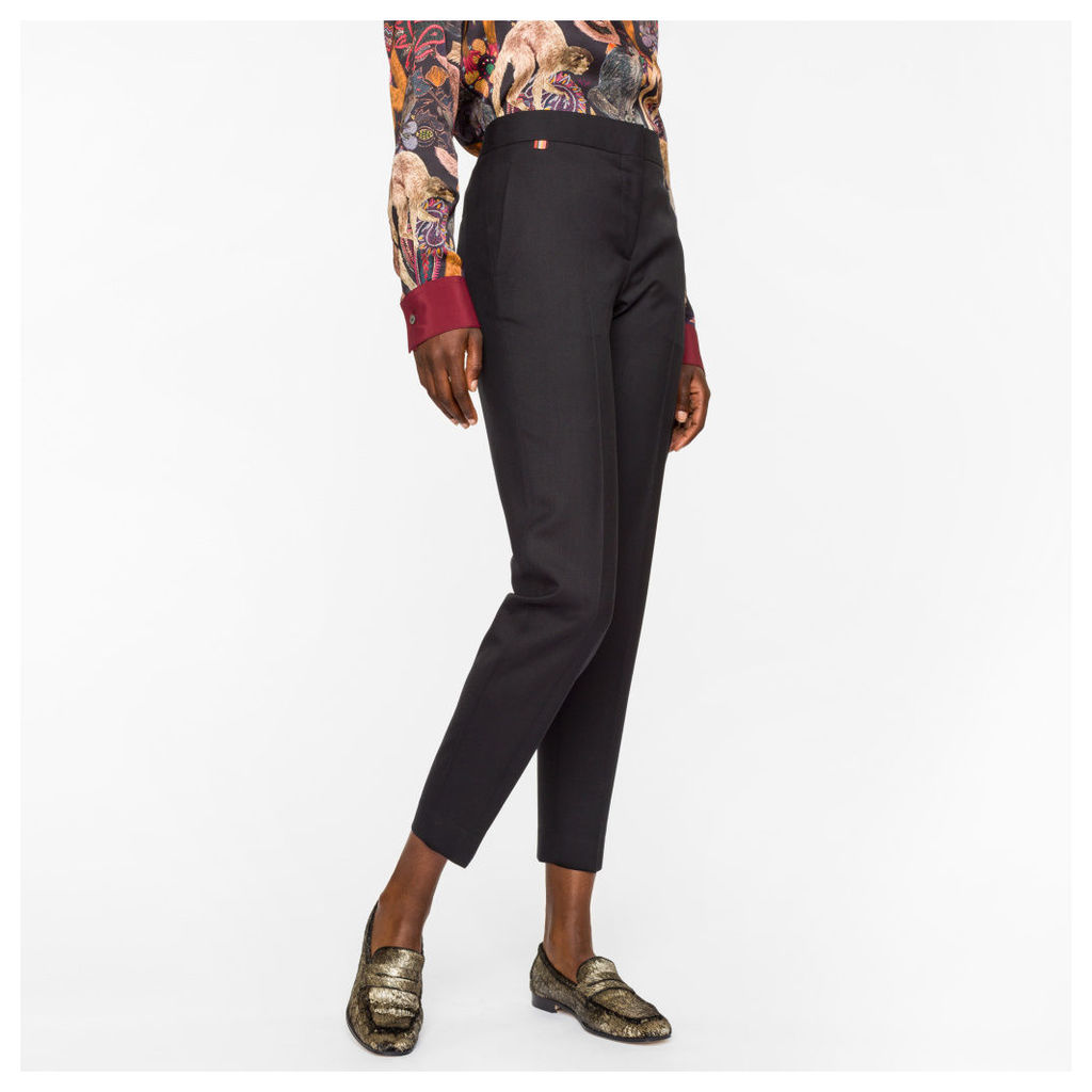 A Suit To Travel In - Women's Classic-Fit Black Wool Trousers