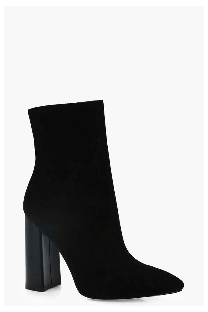 Pointed Shoe Boot - black