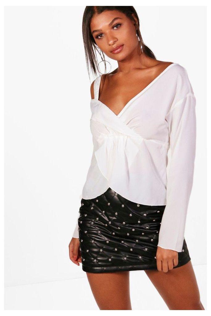 Shoulder Detail Blouse - white