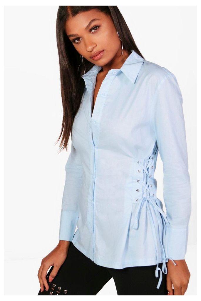 Corset Side Shirt - blue