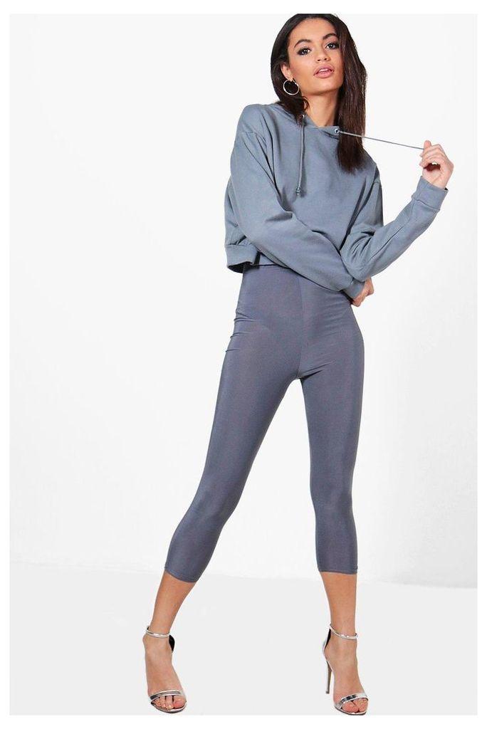 Crop & Slinky Legging Co-ord - grey
