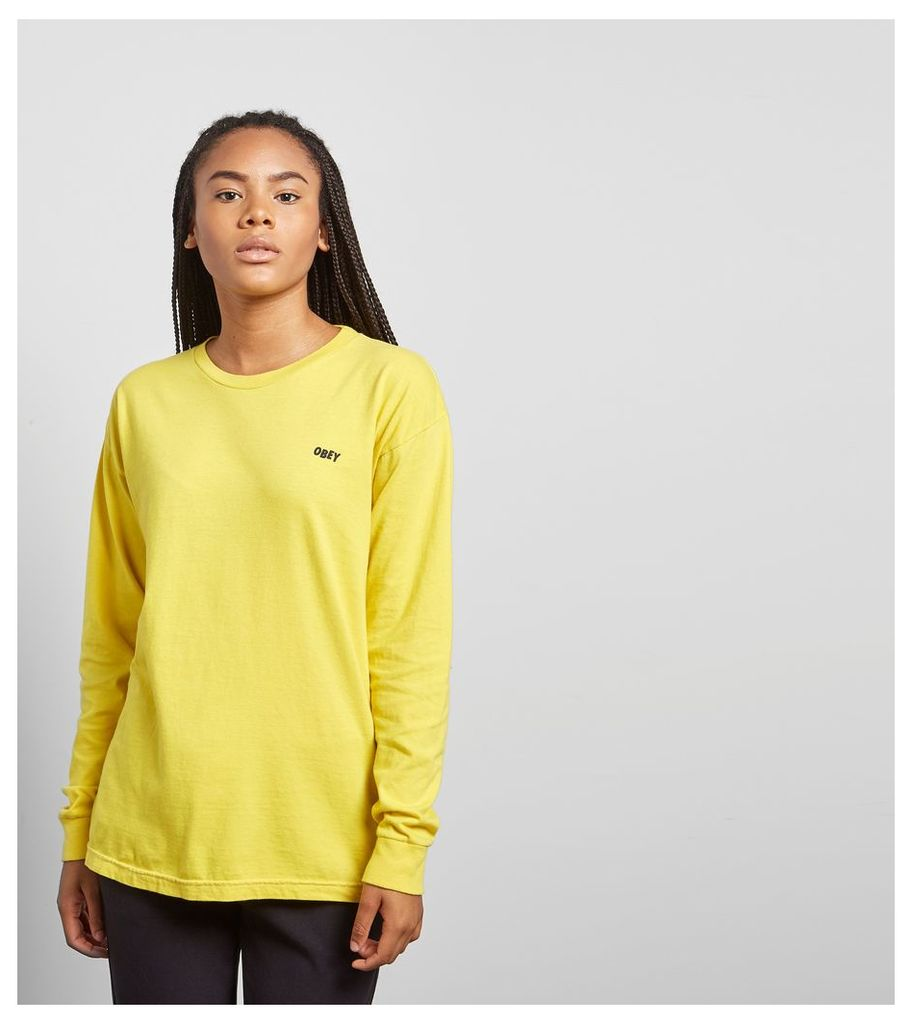 Obey Love Cuffs Long Sleeved T-Shirt, Yellow