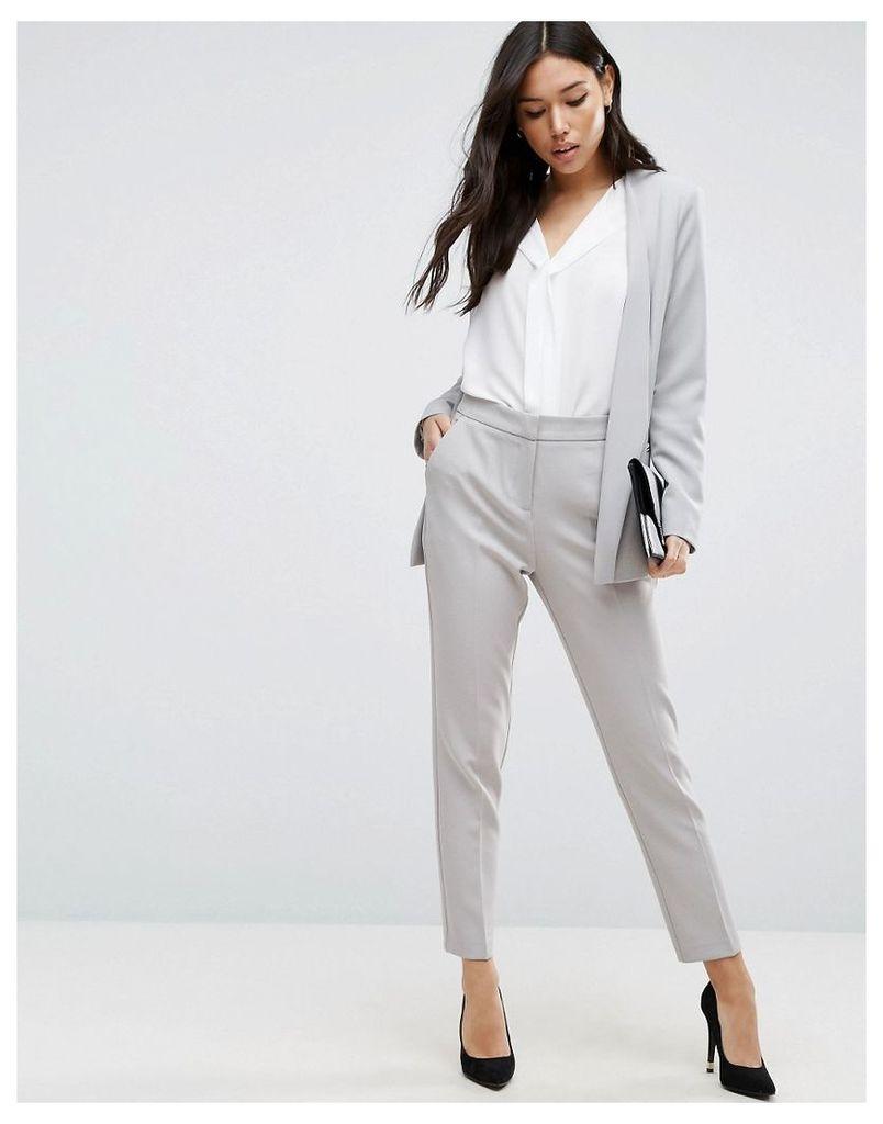 ASOS Premium Clean Tailored Trousers - Light grey