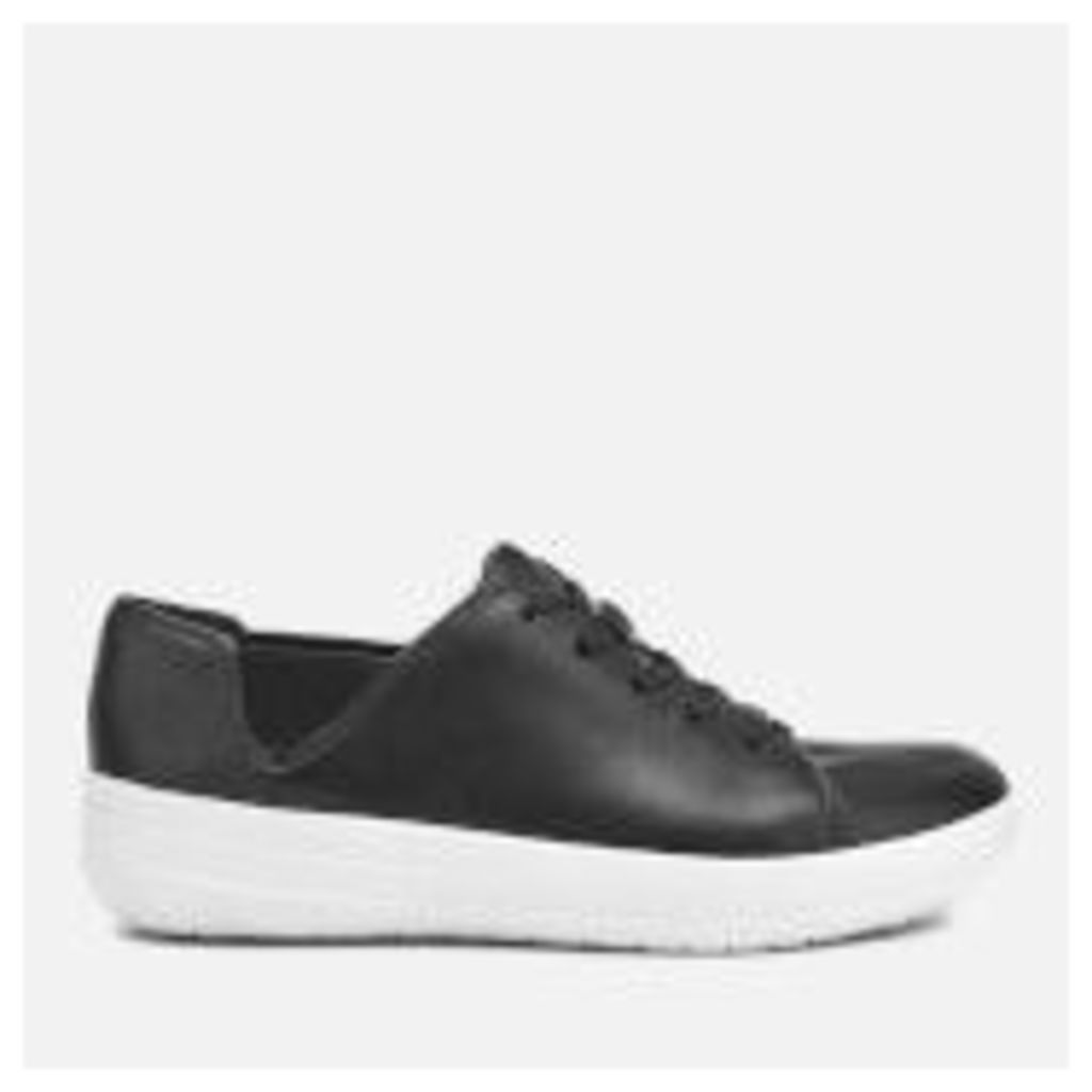 FitFlop Women's F-Sporty Lace Up Leather Trainers - Black