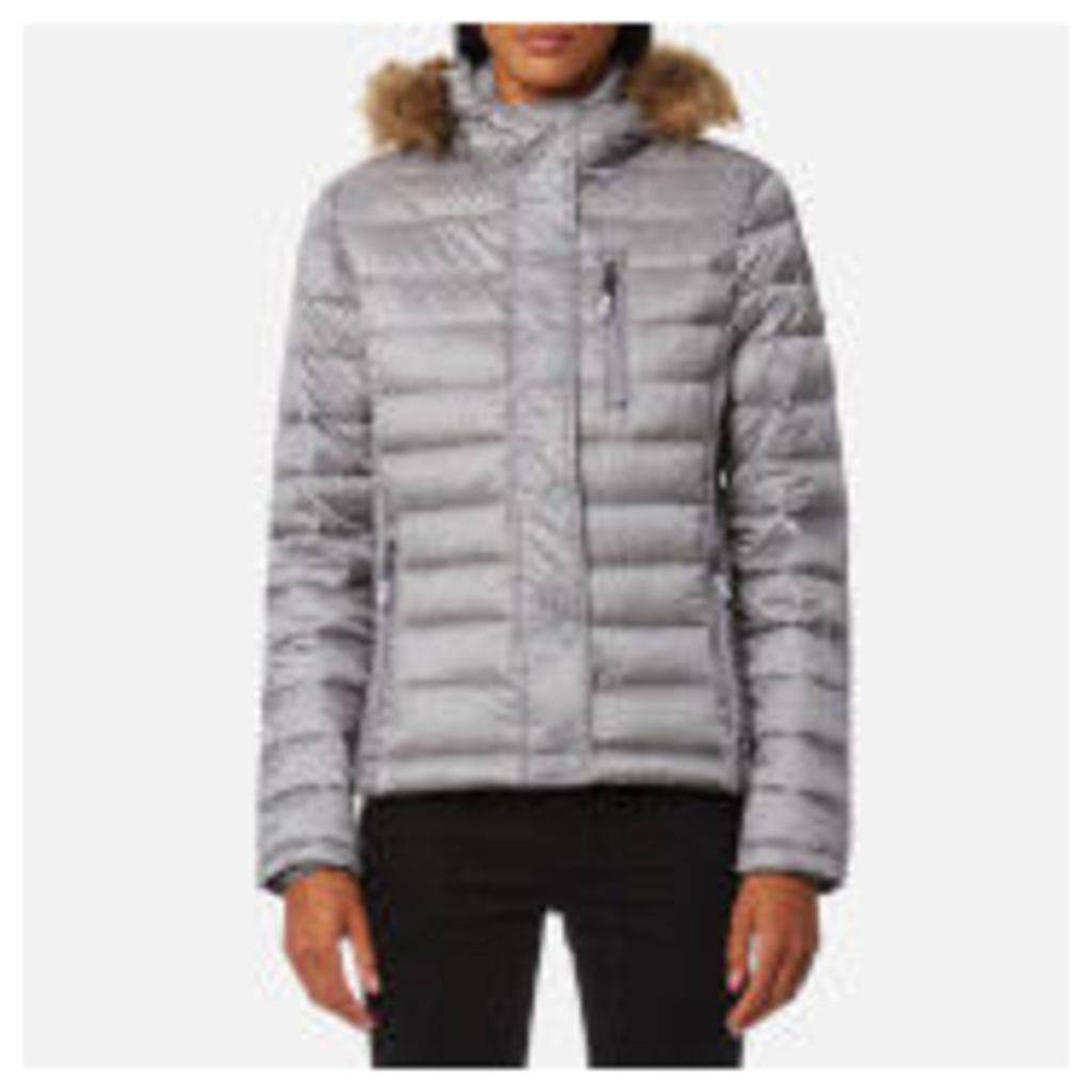 Superdry Women's Luxe Fuji Double Zip Hooded Jacket - Comet Silver
