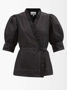 Giambattista Valli - Layered Ruffled Cotton Blend Macramé Lace Dress - Womens - Black