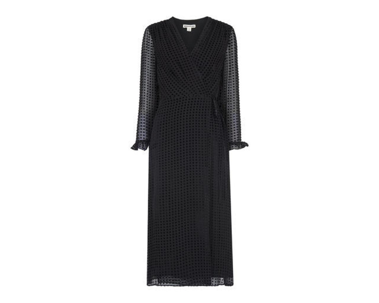 Venus Velvet Spot Wrap Dress