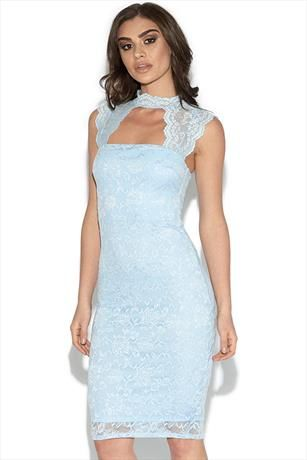 Cut Out Lace Detail Bodycon Dress