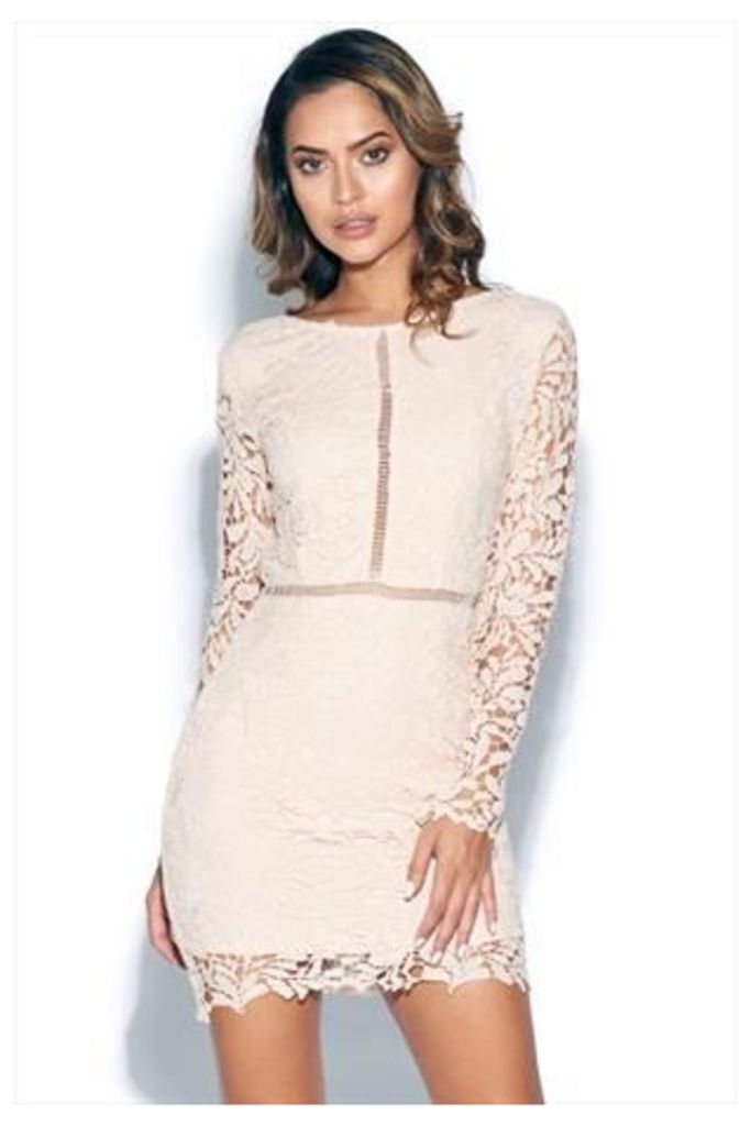 Long Sleeve Crochet Lace Bodycon Dress