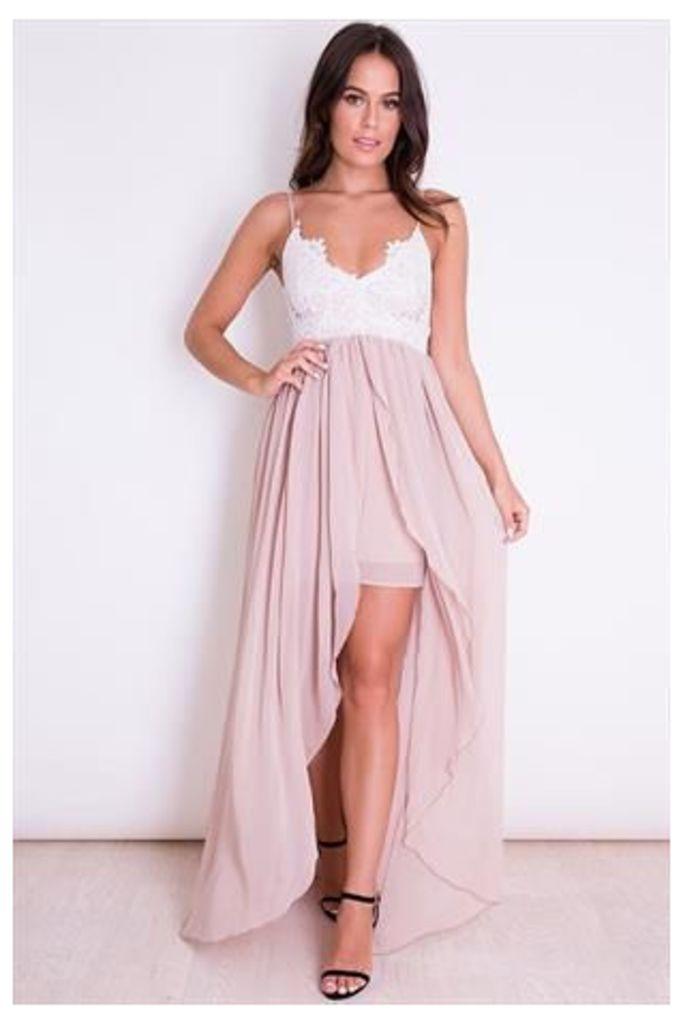 Lace Cami Chiffon Maxi Dress