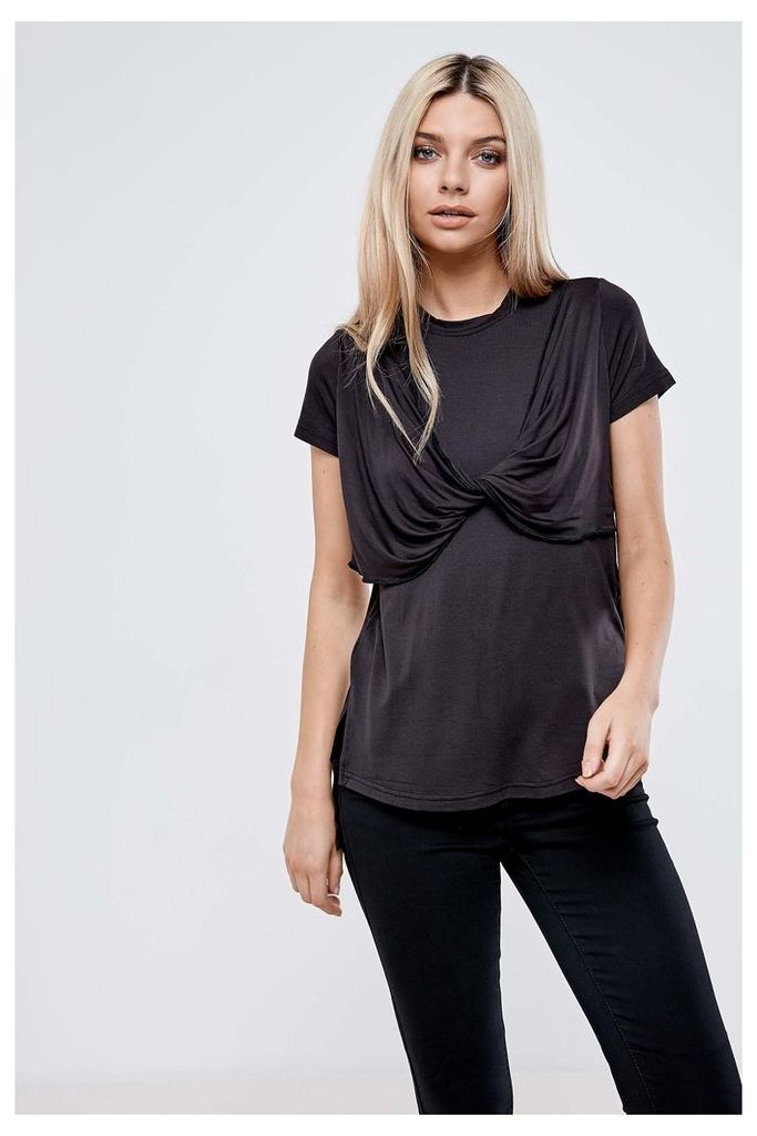 Anita & Green Fold T-Shirt - Black