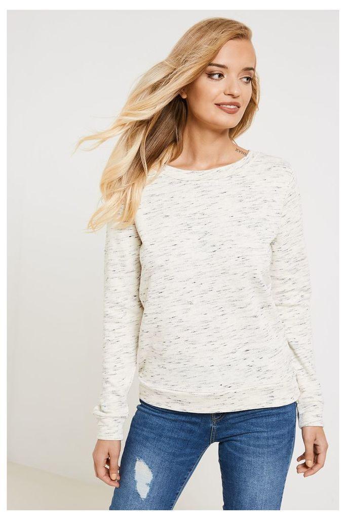 Jacqueline de Yong Lace-up Sweater - Off-White