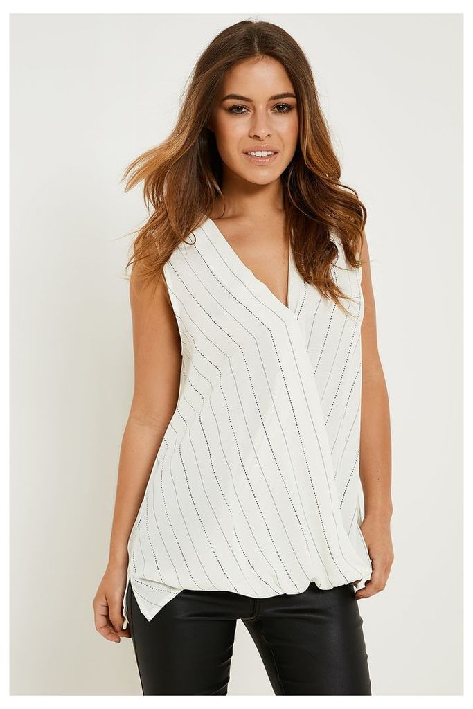 Glamorous Checked Top - Off-White