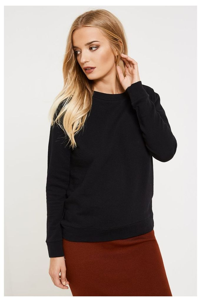 Jacqueline de Yong Lace-up Sweater - Black