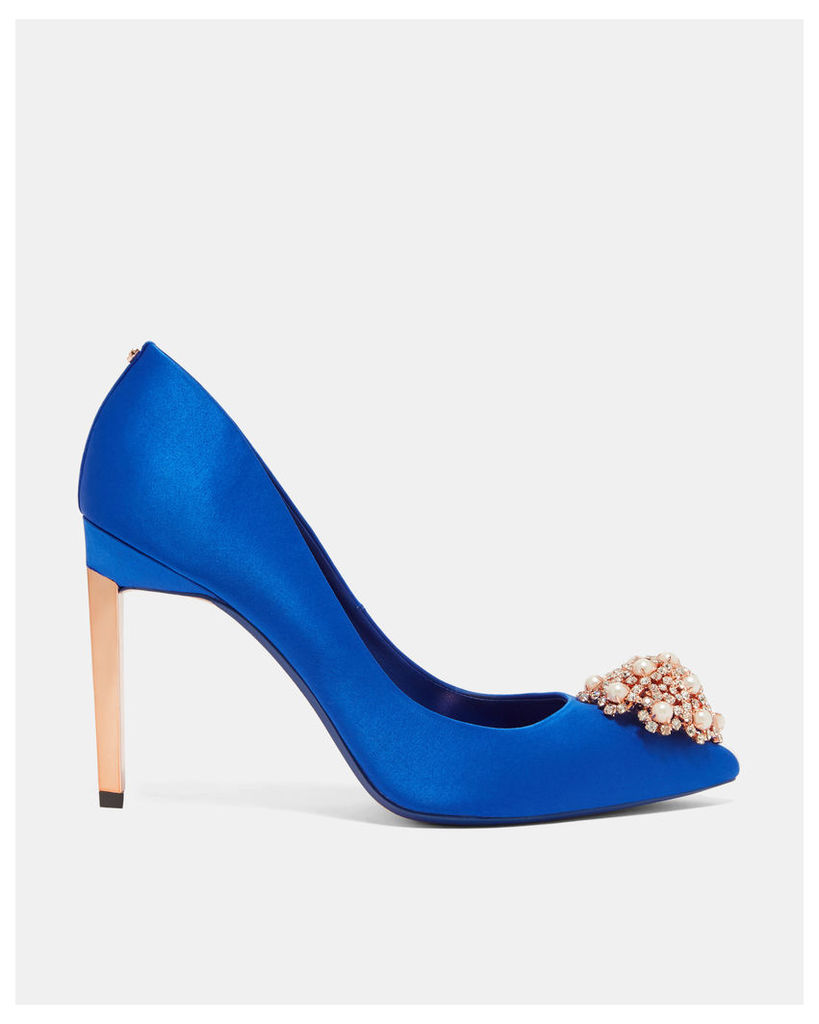 Ted Baker Brooch detail court shoes Blue