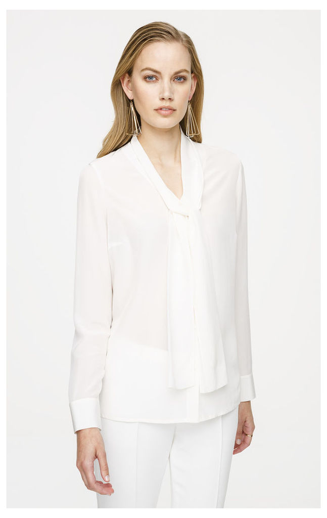 Silk Shawl Collar Blouse