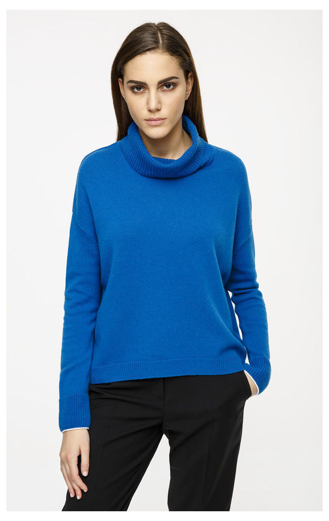 Wool Cashmere Roll Neck Sweater