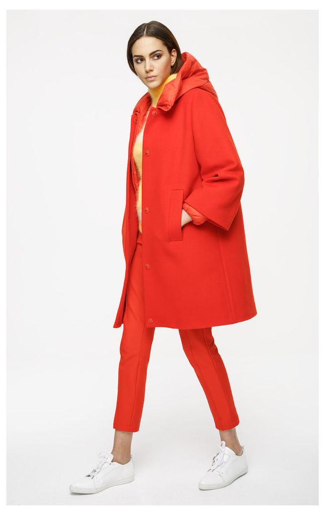 Two-in-One Wool Down Coat
