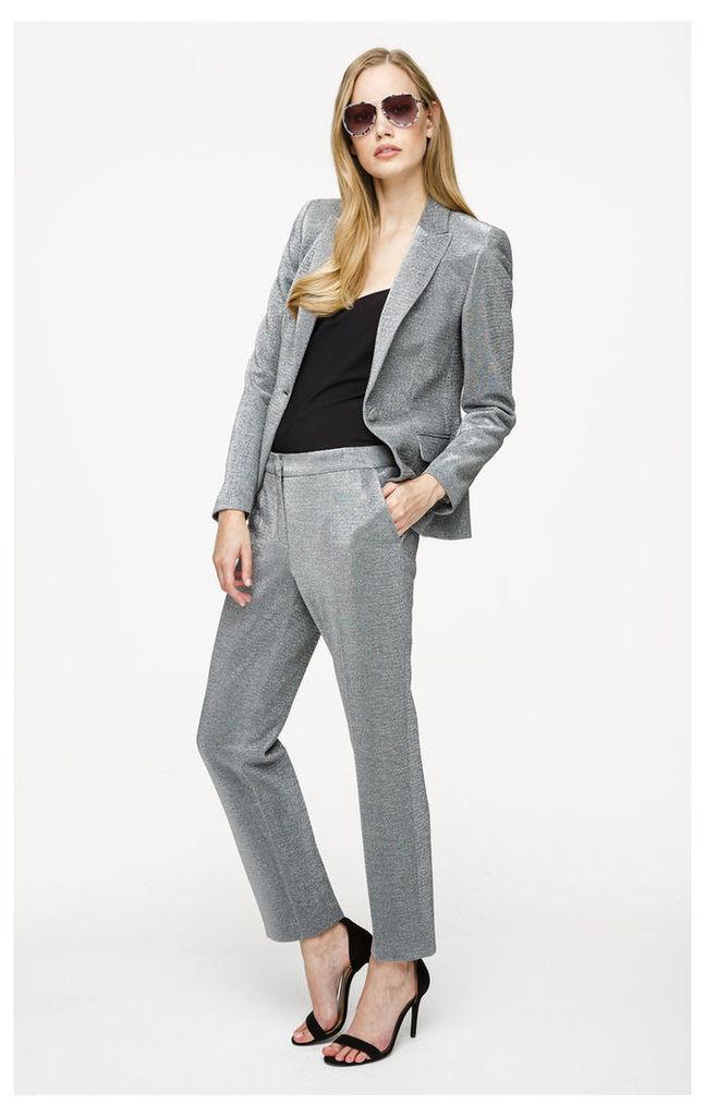 Metallic Jersey Blazer