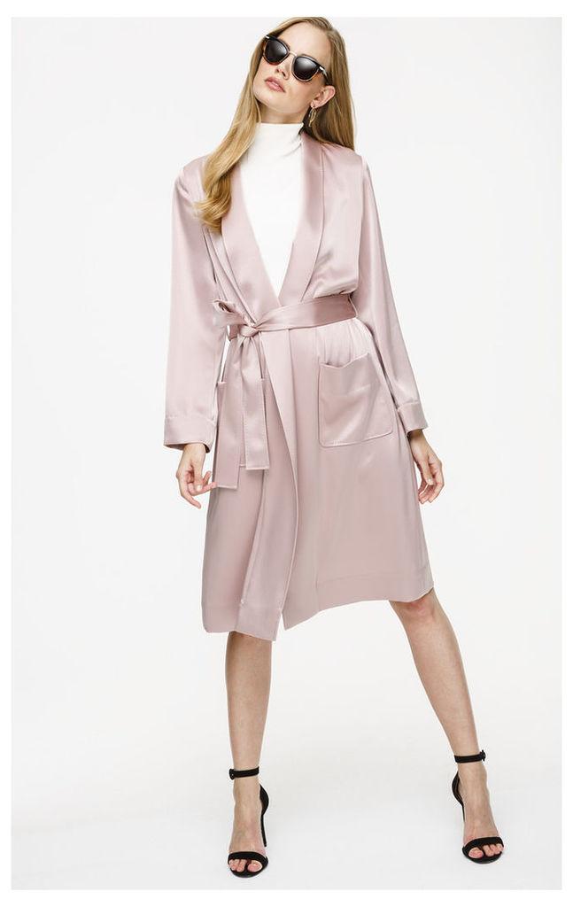 Satin Belted Coat