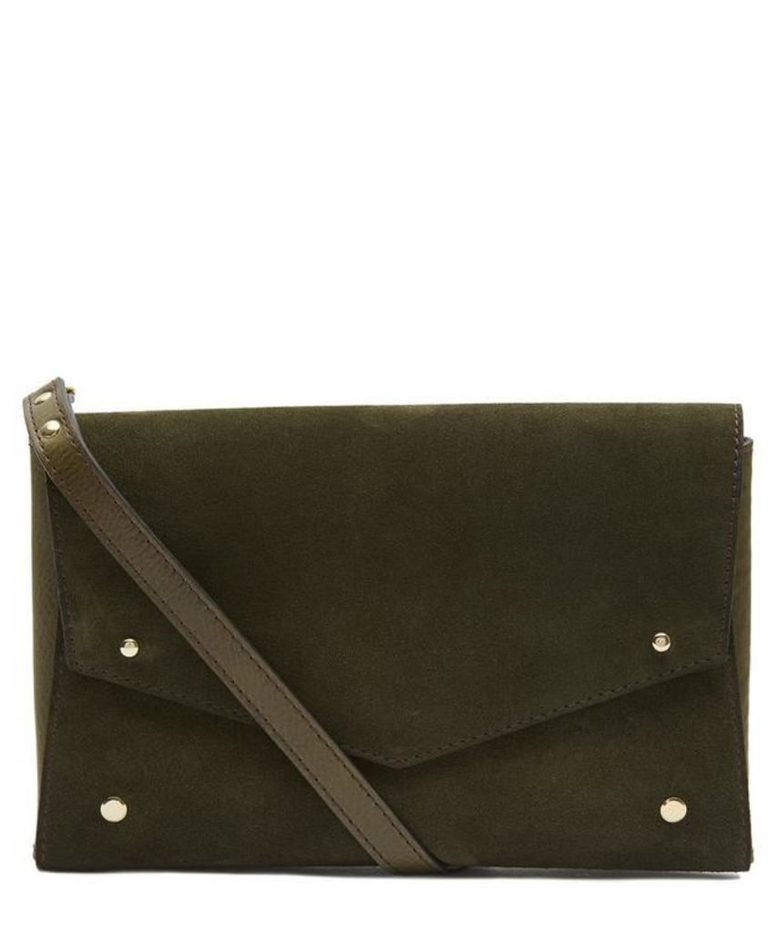 One Suede Flap Back to Back Bag