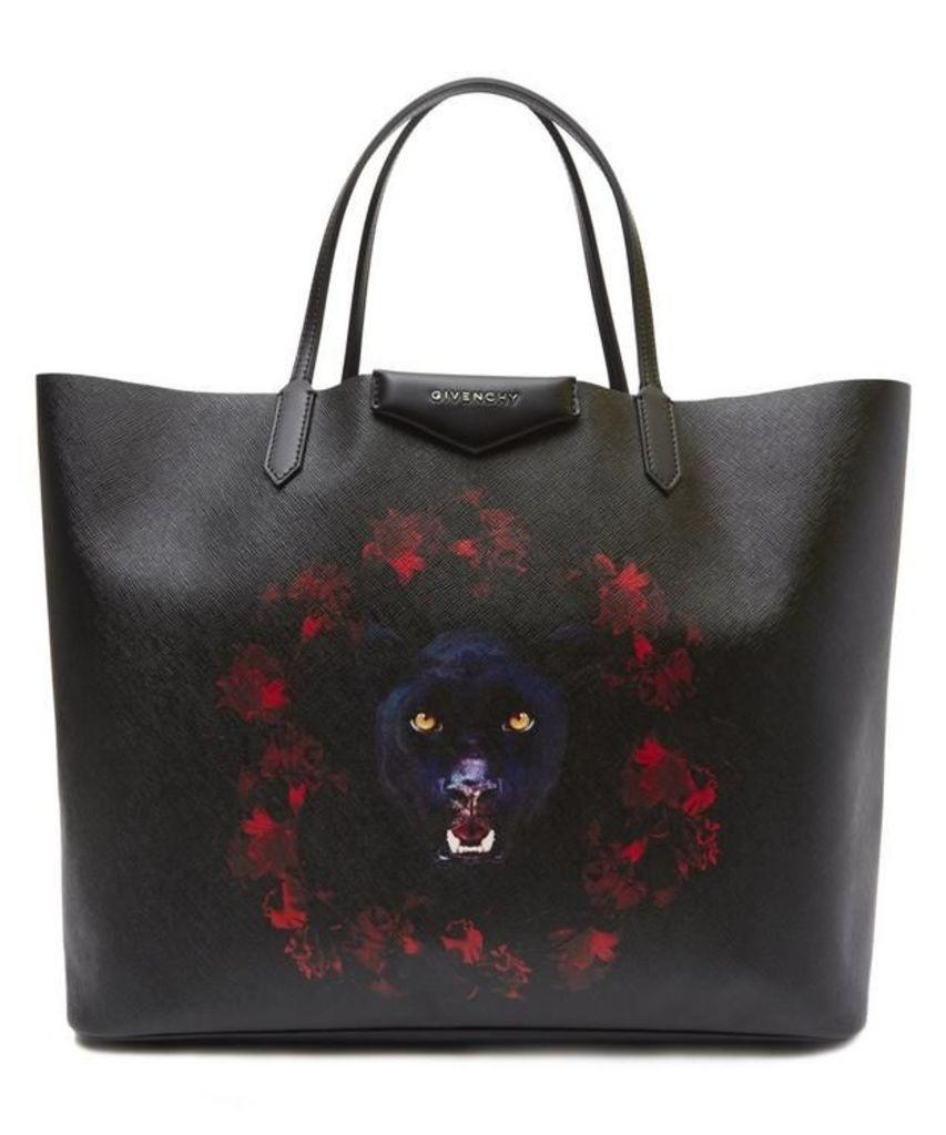 Jaguar Print Antigona Shopper