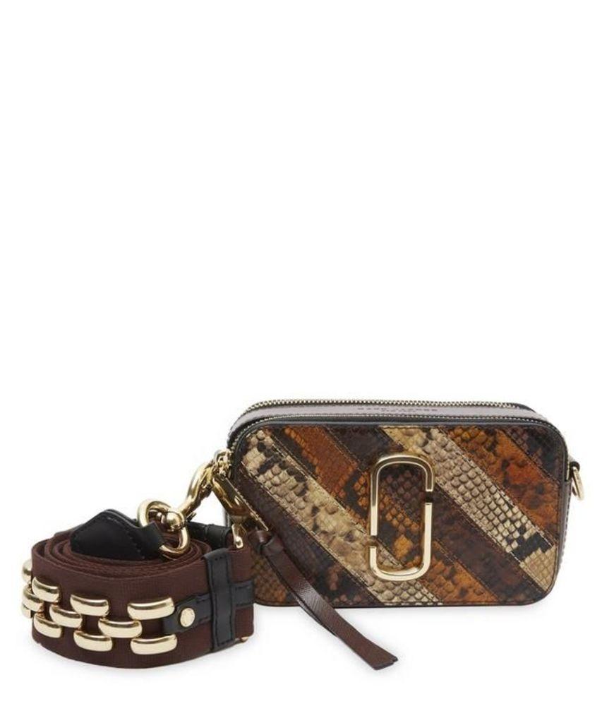 Patchwork Snake Snapshot Cross Body Bag