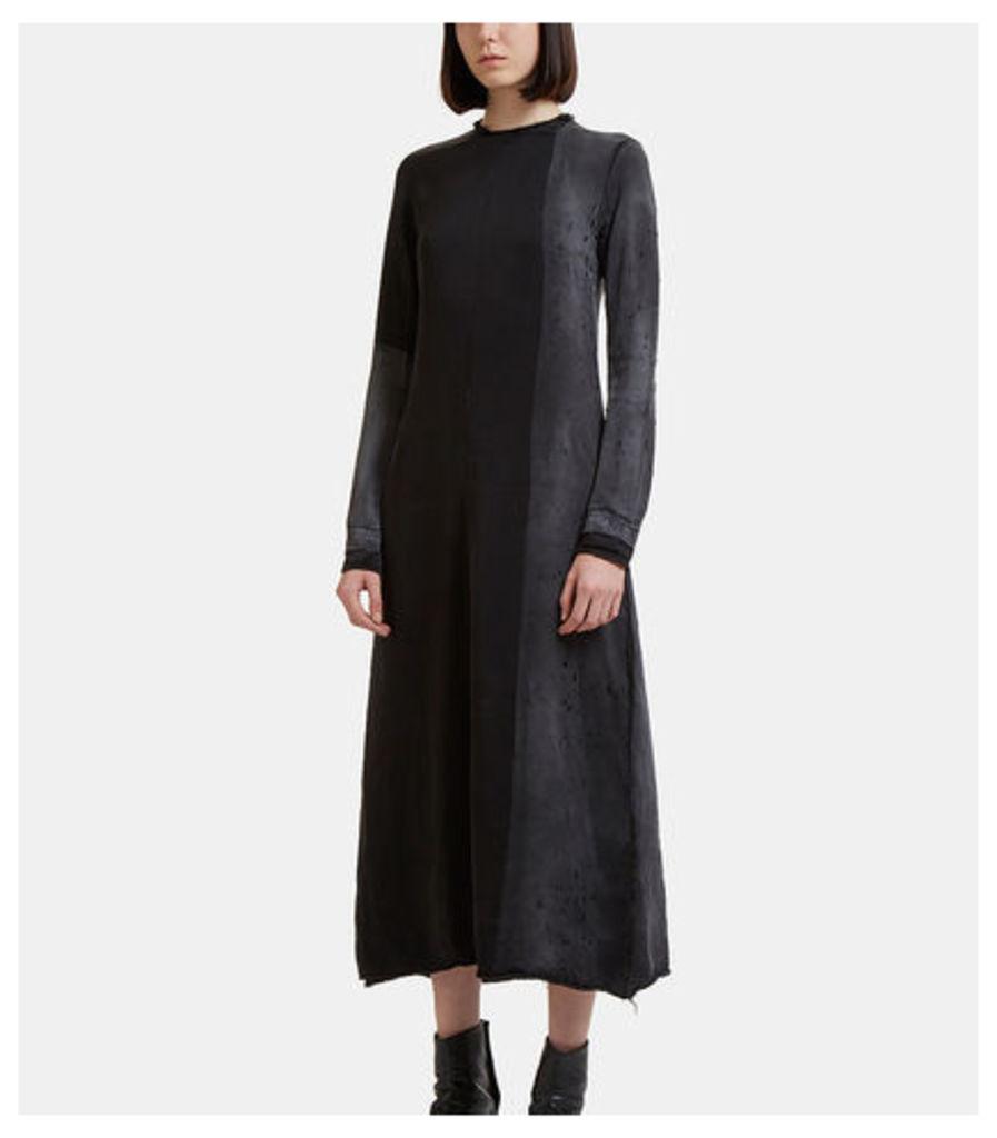 Long Sleeve Treated Zip Dress