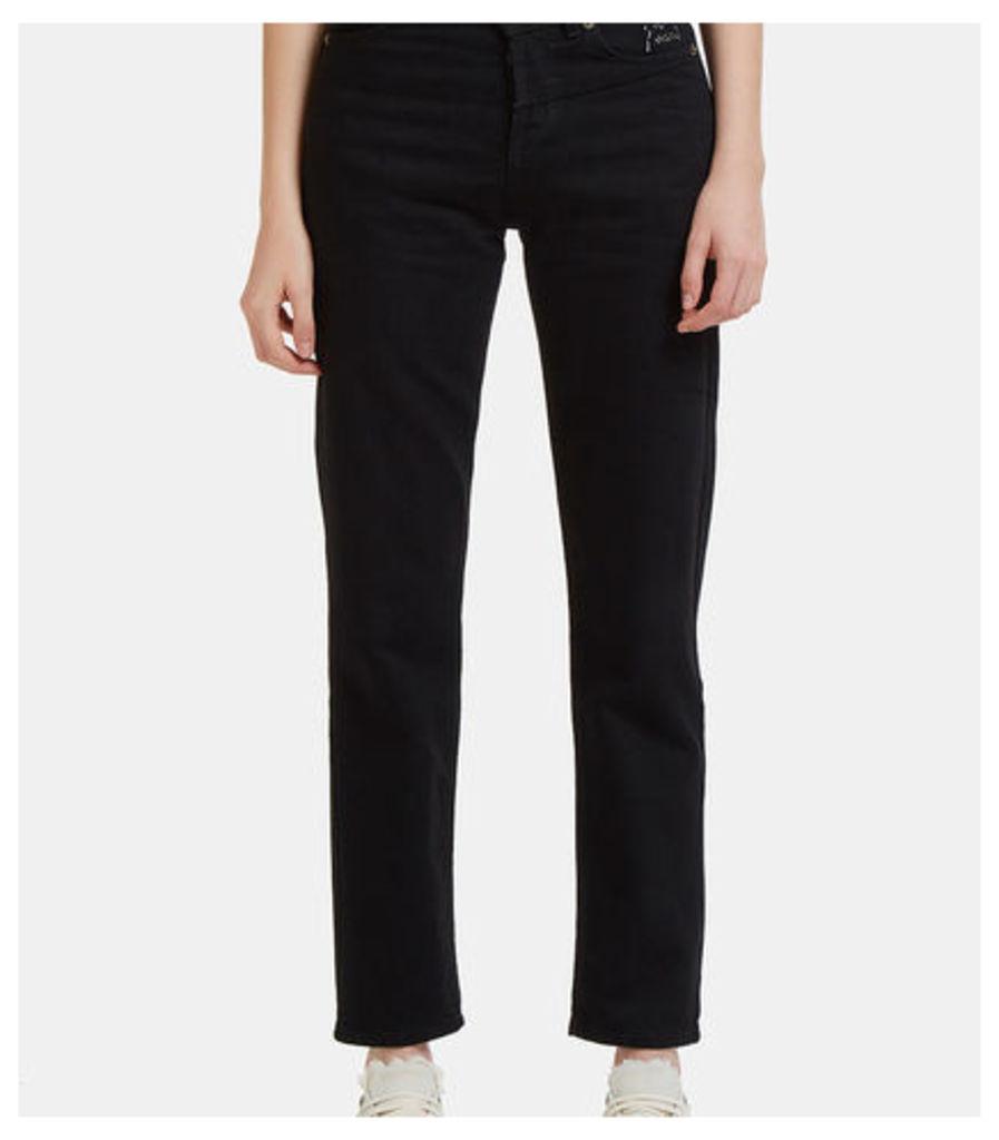 D21 Asymmetric High Waisted Slim Fit Jeans