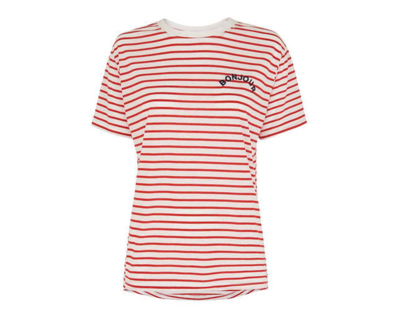 Bonjour Embroidered Logo Tee