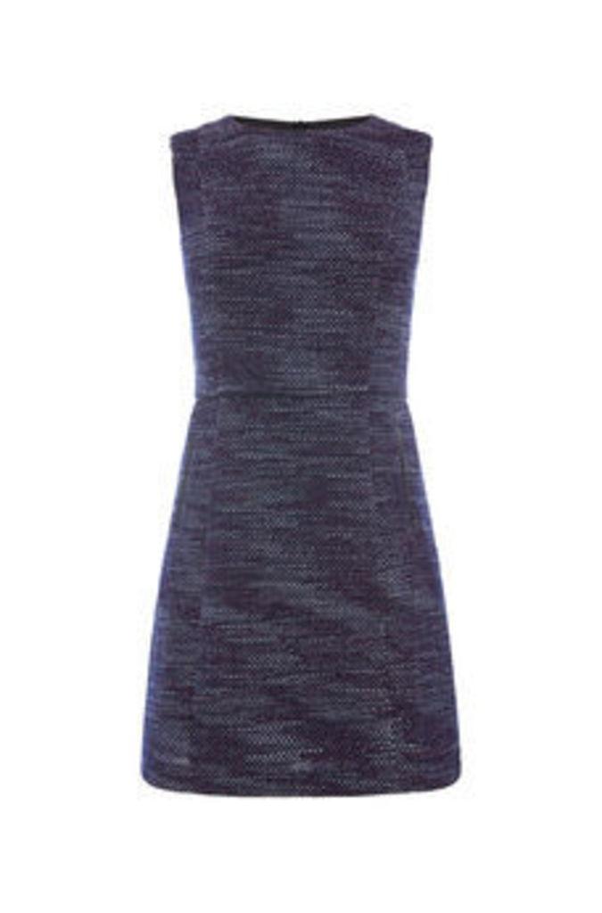 MERLOT TWEED SHIFT DRESS