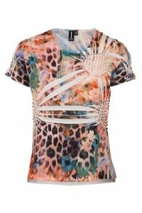 Blurred Animal Print Top
