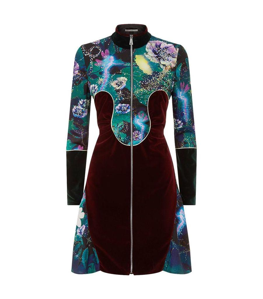 Velvet Insert Dress